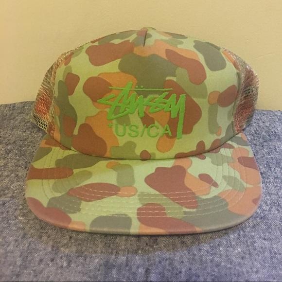 ae1c39a2f37 Stussy Camouflage Snapback! M 5b4e24d83c9844aabf457750